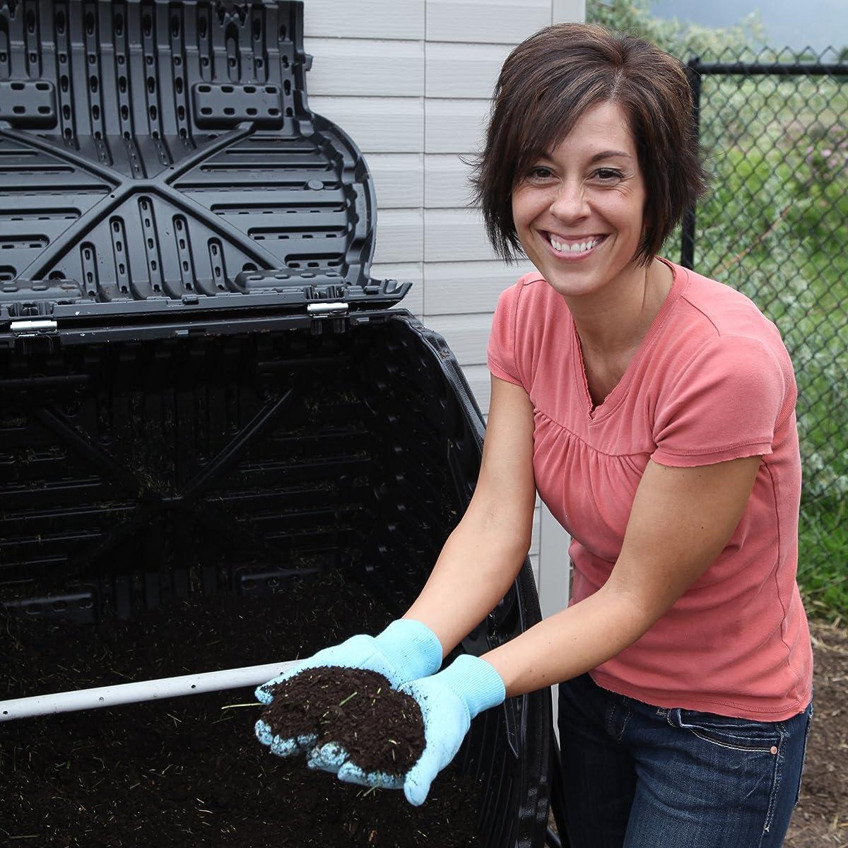 Lifetime 60058 Compost Tumbler, Black, 80-Gallon