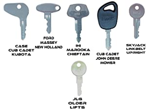 Construction Equipment Master Keys Set-Ignition Key Ring for Heavy Machines, 36 Key Set (Tamaño: 36 Key Set)