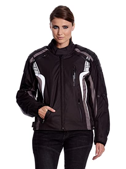 Roleff Racewear 5143 Blouson Moto Lucerne, Noir/Gris, M