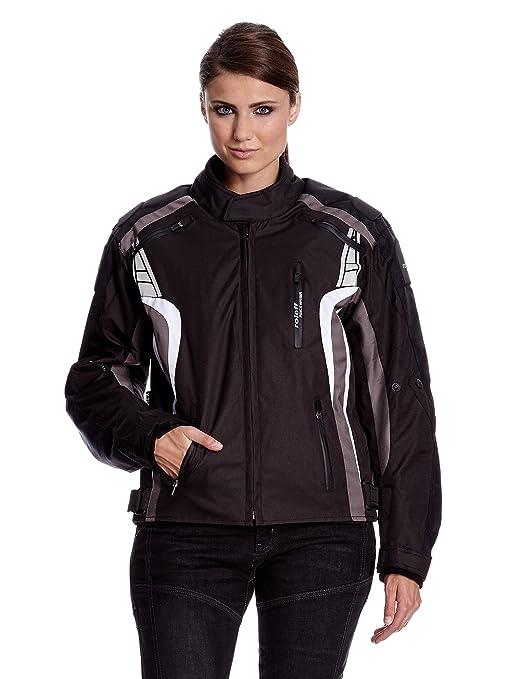 Roleff Racewear 5145 Blouson Moto Lucerne, Noir/Gris, XL