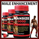 MANSIZE 3000 MALE ENLARGER XL SEXUAL PERFORMANCE ENHANCEMENT PILLS BEST MALE TESTOSTERONE MALE PENIS ENLARGER GROWTH PILLS SEX ENHANCER
