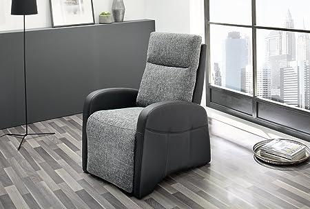 Marcel Polstersessel TV-Sessel Fernsehsessel Relaxsessel mit Funktion in schwarz/grau 440/16 und 448/19