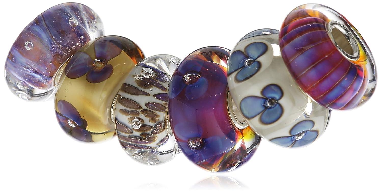 Trollbeads Damen-Bead 925 Sterling Silber Glas mehrfarbig 63049 günstig