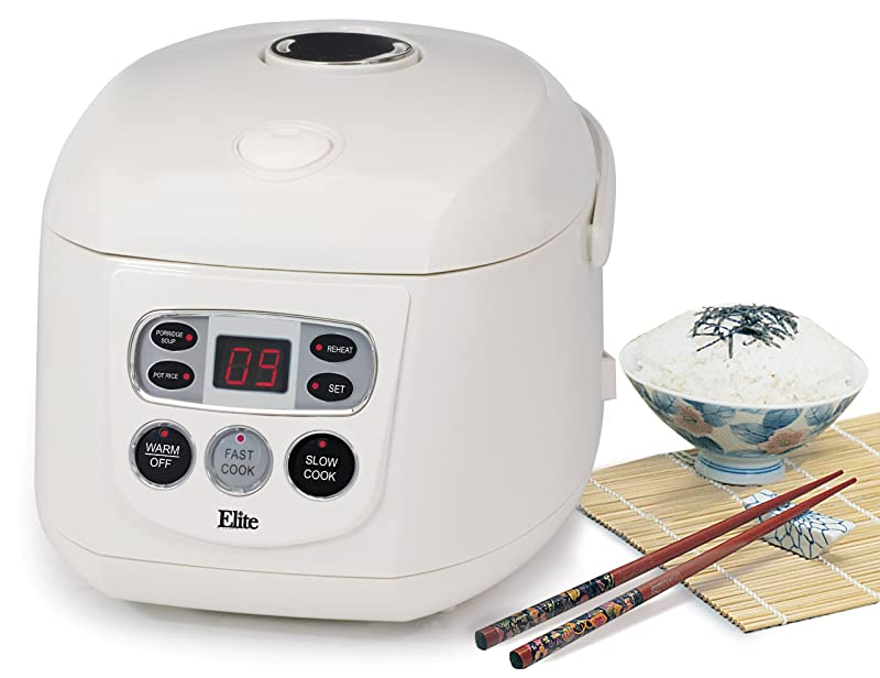 Elite Gourmet ERC-150 Maxi-Matic 8 Cup Programmable Rice Cooker Via Amazon