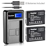 Kastar Battery (X2) & LCD Slim USB Charger for Panasonic DMW-BCG10 and Lumix DMC-ZS1, ZS3, ZS5, ZS6, ZS7, ZS8, ZS10, ZS15, ZS19, ZS20, DMC-TZ7, DMC-TZ10, DMC-TZ19, DMC-TZ20, DMC-TZ30, DMC-ZR1, DMC-ZR3 (Tamaño: 1 LCD charger + 2 batteries)