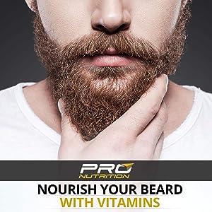 Beard Growth Vitamin Supplement- Grow a Fuller, Longer, Thicker