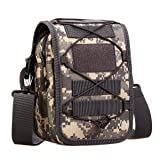 UNISTRENGH Multi-Purpose Tactical Molle Utility Pouches Compact Waist Pack Military Water-Resistance Casual Satchel Bag Fanny Pack Hunting Accessory (ACU Camo) (Color: ACU Camo)