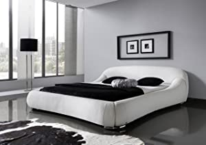 Meise Möbel 3291050000 Polsterbett Picasso mit Kunderlederbezug, creme Liegefläche circa 180 x 200 cm, weiß  Kritiken und weitere Informationen