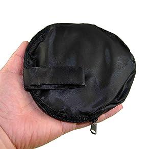 Tarjeta de referencia para reflector             de 12 x 12 (30 x 30 cm) con un balance de 18% gris y 18% nublado, con una bolsa transparente