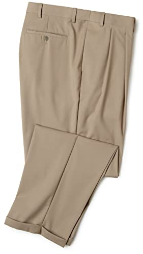 Elastic waist dress pants for men