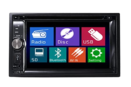 "TUVVA KSD6270B 2-DIN Autoradio multimédia DVD / CD / USB / SD / AUX-IN / MP4 / MP3 Radio Bluetooth Écran LCD tactile 15cm (6.2"") avec télécommande"