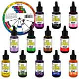 My Slime 12 Color Premium Slime Coloring Set, Large 20 ml Bottles - Non-Toxic Dyes, Works in White & Clear Slime Making Glues, Soaps - Color Mixing Wheel - Red, Tango Mango, Lemon Twist, Cotton Candy (Tamaño: 12-Colors)