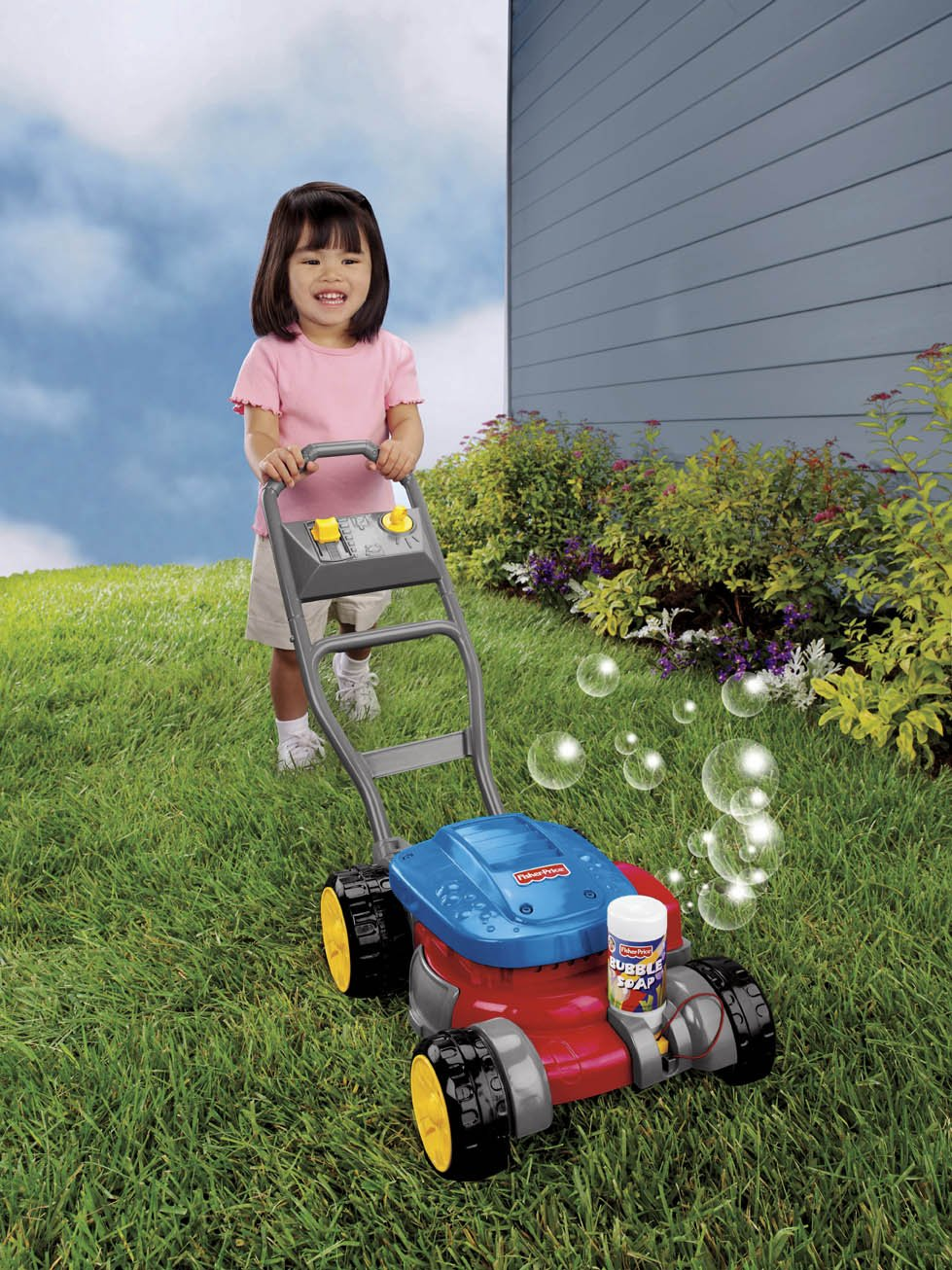 Kids Bubble Lawn Mower Push Toddler Blowing Outdoor