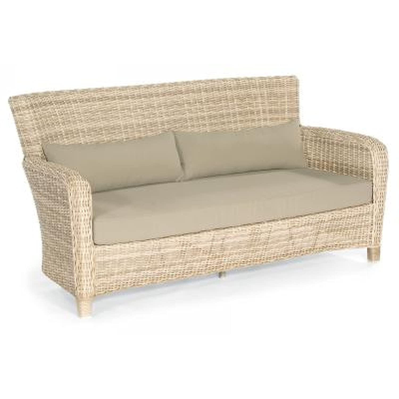Sonnenpartner Lounge Set Fago 4teilig 2 Sessel + Sofa u. Tisch Farbe antik weiß günstig