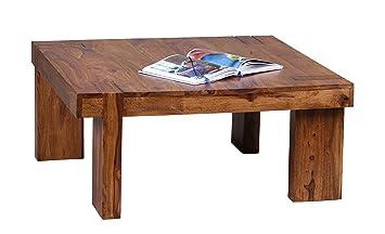 Wohnling WL1.380 Design Sheesham Massivholz Couchtisch 88 x 88 x 40 cm