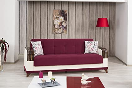Almira Sofa Bed | Golf Burgundy Fabric