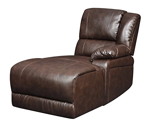 Glory Furniture G975-SC-RAF-CHS RAF Chaise for Sectional Sofa, Chocolate