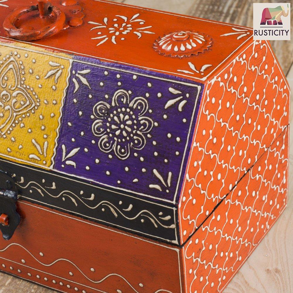 Rusticity Decorative Box Painted