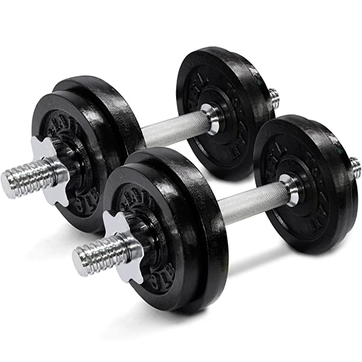 Yes4All 50-Pound Adjustable Dumbbells