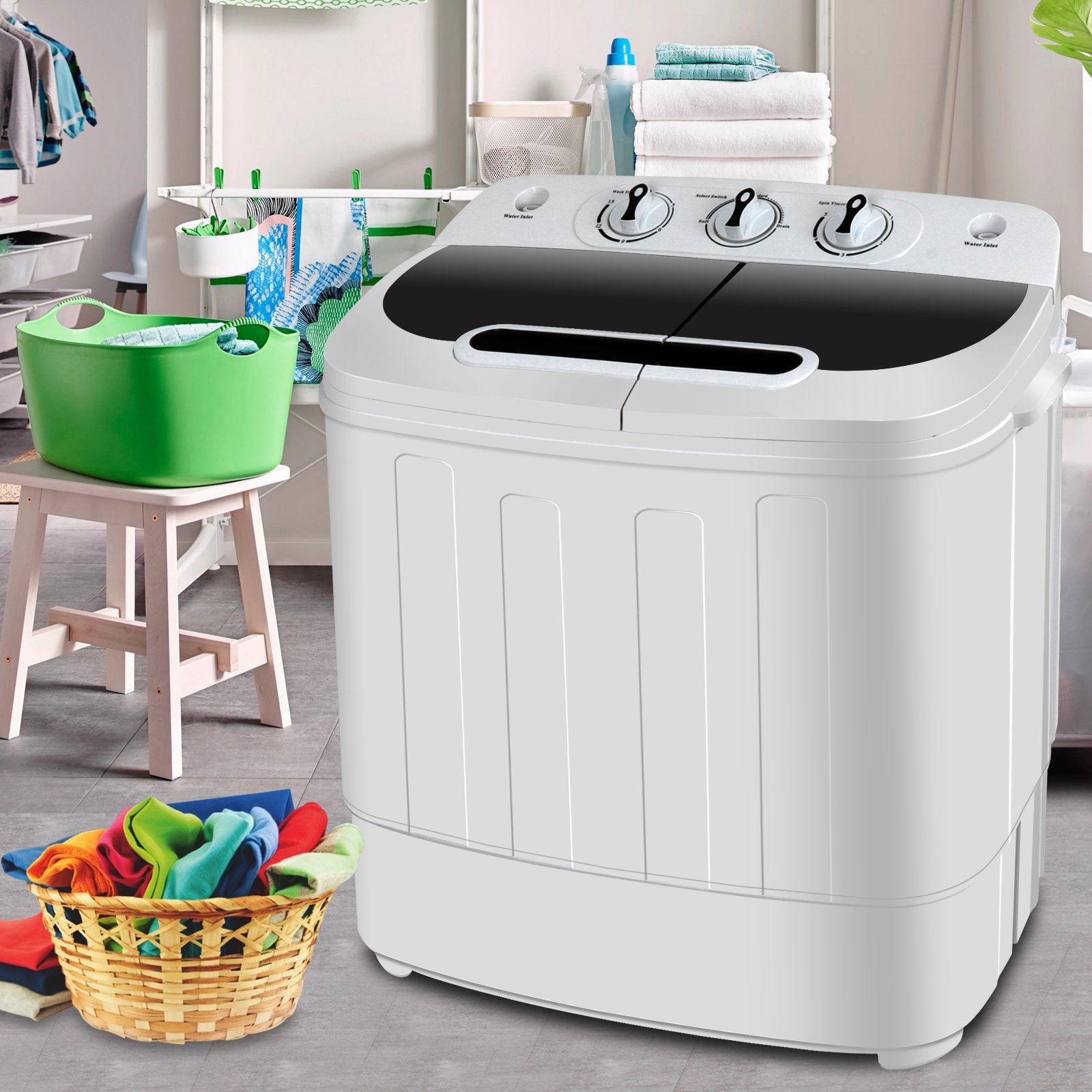 Mini Twin Tub Compact Portable Washing Machine