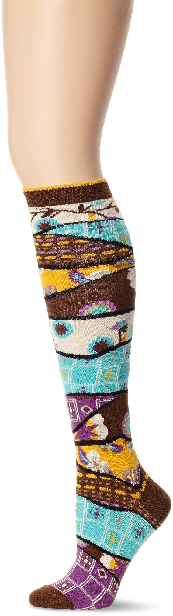 Ozone Women's Quilt Pile Socks