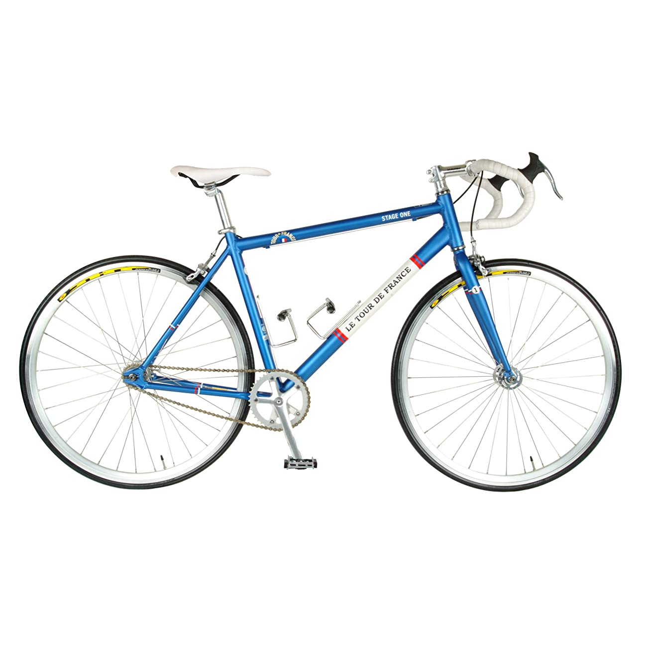 Tour de FranceStage One Vintage Fixie Bike, 700c Wheels, Men's Bike, Blue, 45 cm Frame, 51 cm Frame, 56 cm Frame 0