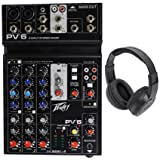 Peavey PV6 PV 6 Pro Audio Mixer w/ 2 Mic In, USB, Compressor/Effects+Headphones