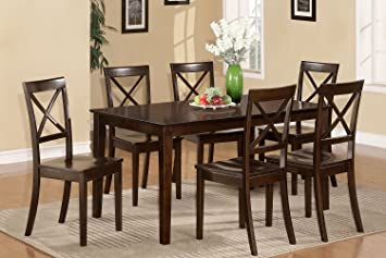 East West Furniture CAB5S-CAP-W 5-Piece Dining Table Set