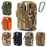 Lightbare Tactical Molle Pouch Multipurpose EDC Waist Bag Pack, Outdoor Men Compact Gadget Utility Belt with Cell Phone Holster Holder (CP CAMO) (Color: CP CAMO)