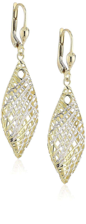 Celesta Damen-Ohrhänger 333 Gelbgold zweifarbig L= 46 mm glanz/diamantiert 324330132 online bestellen