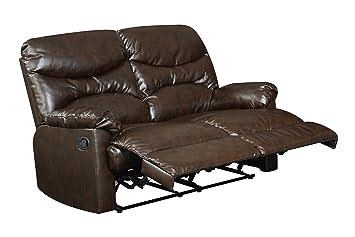 Glory Furniture G450-RL Reclining Loveseat, Brown