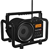 Sangean TB-100 (Toughbox) AM/FM/AUX-In Ultra Rugged Digital PLL Tuning Rechargeable Radio (Special Edition Black) (Color: Black)