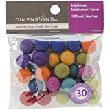 Dimensions Crafts Assorted Mini Wool Balls for Needle Felting, 30 pcs (Tamaño: On? Pa?k)