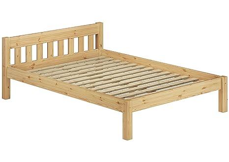 Letto matrimoniale Letto Matrimoniale 180X 200letto legno pino massiccio naturale Doghe Letto futon con 60.38–18