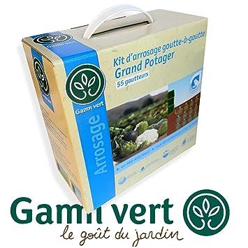 gamm vert kit d 39 arrosage 55 55 goutteurs goutte goutte goutte grand potager peut se. Black Bedroom Furniture Sets. Home Design Ideas