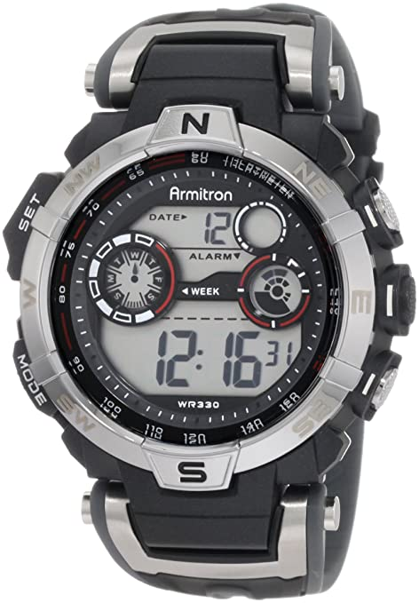 Best watch brands Armitron Sport Men's 408231RDGY Digital Watch