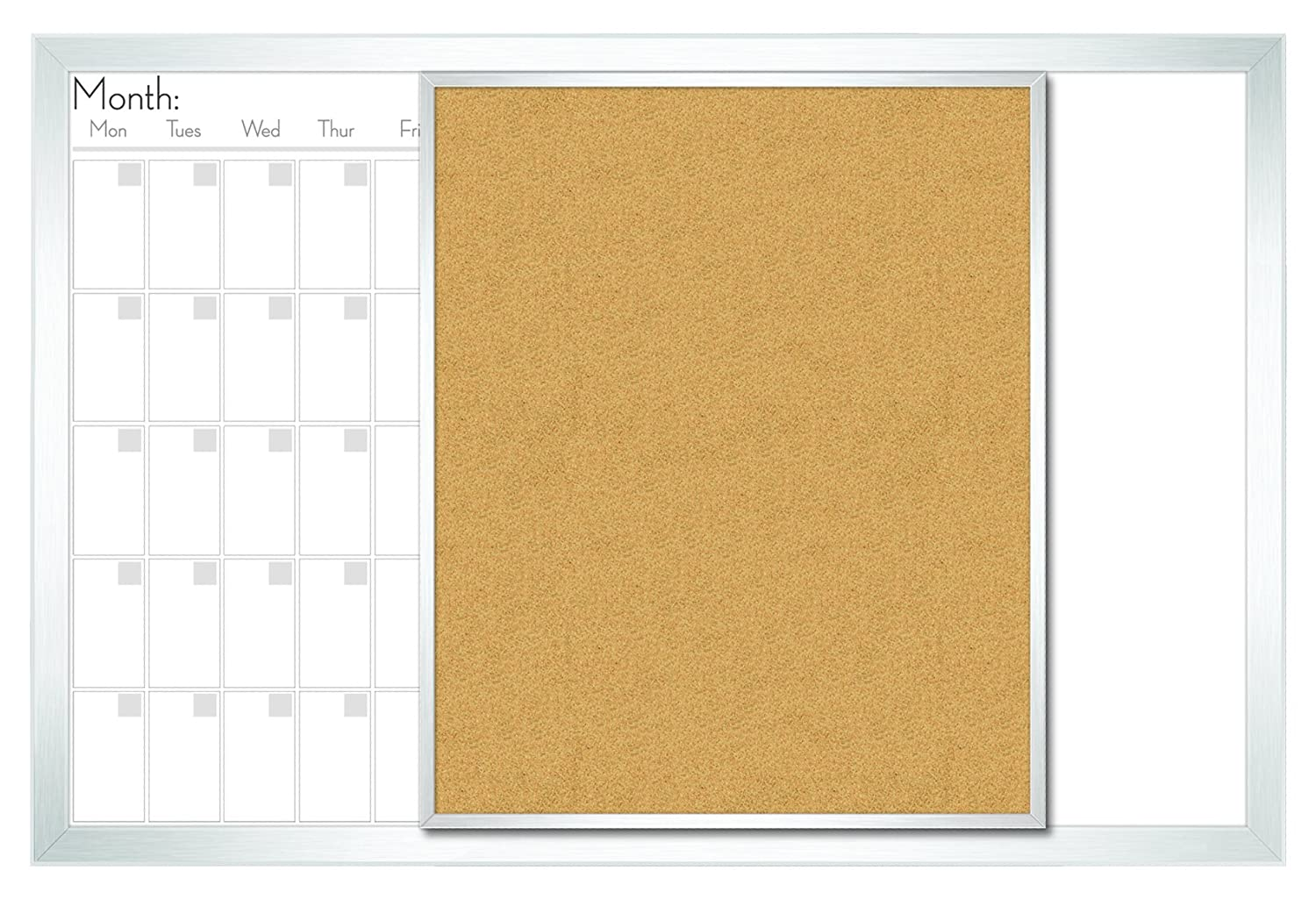 Calendar Bulletin Board Combo : Combination boards dry erase for home and office combo