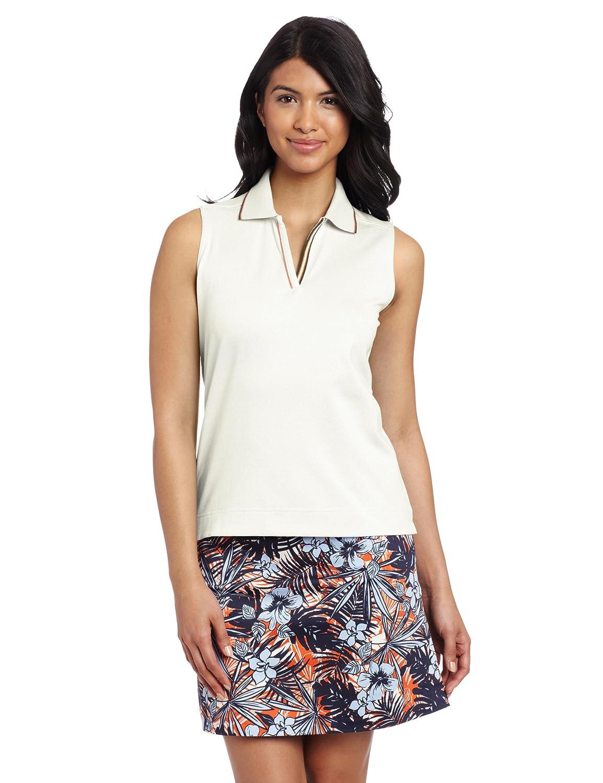 Sport Haley Women's Solid Sleeveless Polo Shirt