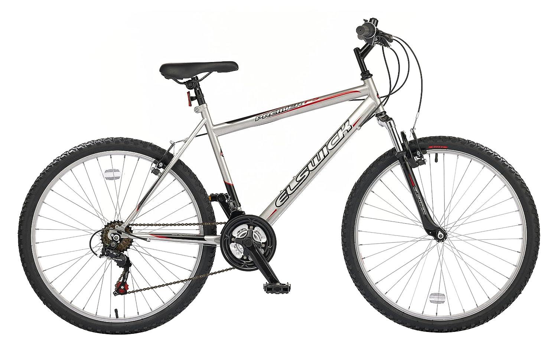 Bicicleta de montaña con suspensión delantera y 18 velocidades