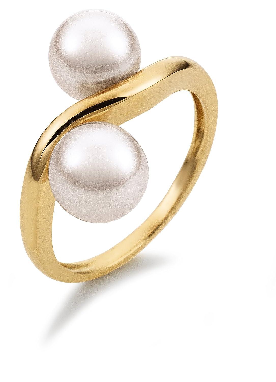 Adriana Damen-Ring Akoya Zuchtperlen 585 Gelbgold Eleganza E11 als Geschenk