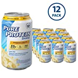 Pure Protein Shakes, Ready to Drink and Convenient for Meal Replacement, Banana Cream, 11 oz, 12 Count