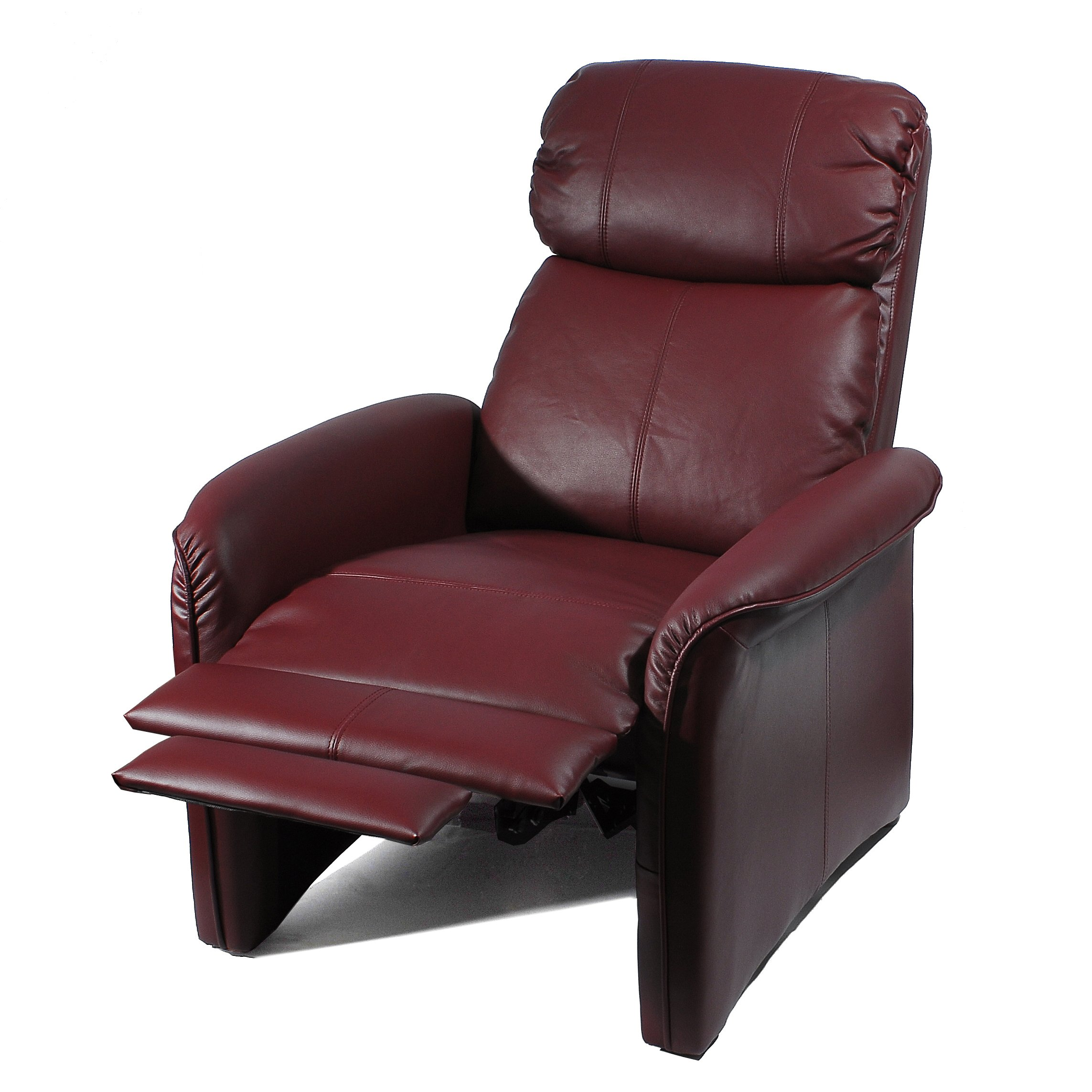 Home Leather Soft Pad Recliner 3 Positional Leather Cozy Recliner Chair Ivory  sc 1 st  FurnitureNDecor.com & Home Leather Soft Pad Recliner 3 Positional Leather Cozy Recliner ... islam-shia.org