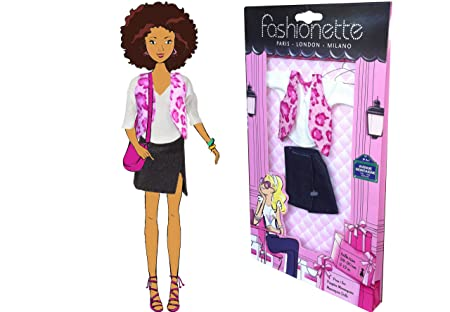 """Fashionette LOOK Nº2 - """"Rock Chic"""" - Vêtements pour les poupées de 28-30cm : Barbie, Steffi, Princesses Disney, Liv, etc..."""