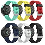 MoKo Garmin Forerunner 235 Watch Band, Soft Silicone Replacement Watch Band for Garmin Forerunner 235/220/230/620/630/735XT Smart Watch, 6PCS (Multi-Colors) (Color: 6PCS, Tamaño: 6 PACK)