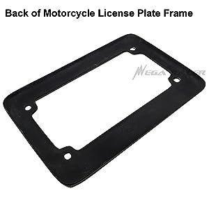 Motorcycle JDM Style 100/% Real Carbon Fiber License Plate Frame Holder Black 3D Twill Weave Tag US Scooter Chopper Bike