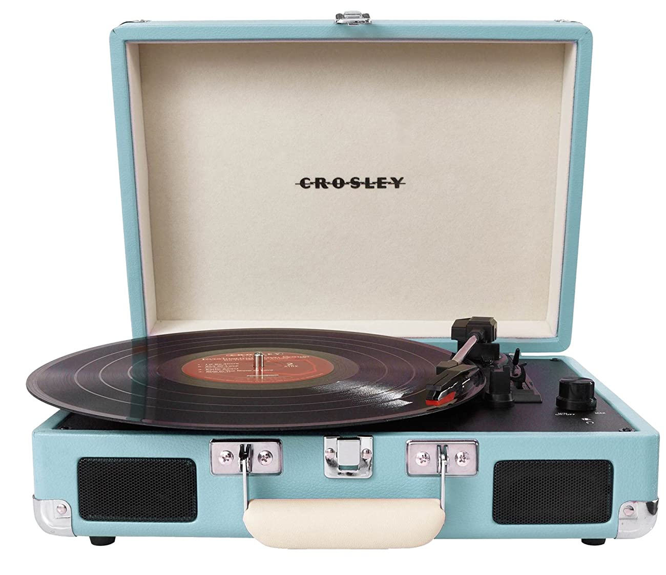 Crosley CR8005A-TU Cruiser Portable 3-Speed Turntable, Turquoise 0