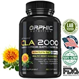 95% Potency   2000mg CLA Organic Capsules   100% Pure Safflower Oil   Highest Potency, Non-Stimulant Supplement   Lose Weight, Burn Fat, Boost Metabolism & Build Lean Muscle   Men & Women   Pack of 60