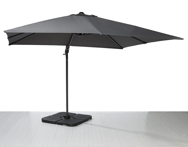 Ampelschirm Sonnenschirm Kurbelschirm Terrassenschirm grau 300×300 cm online kaufen