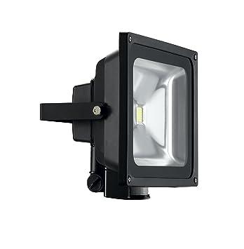 XQ-Lite i-Glow DEL-Projecteur 10 W de 1x SMD DEL avec Détecteur mvt Gris