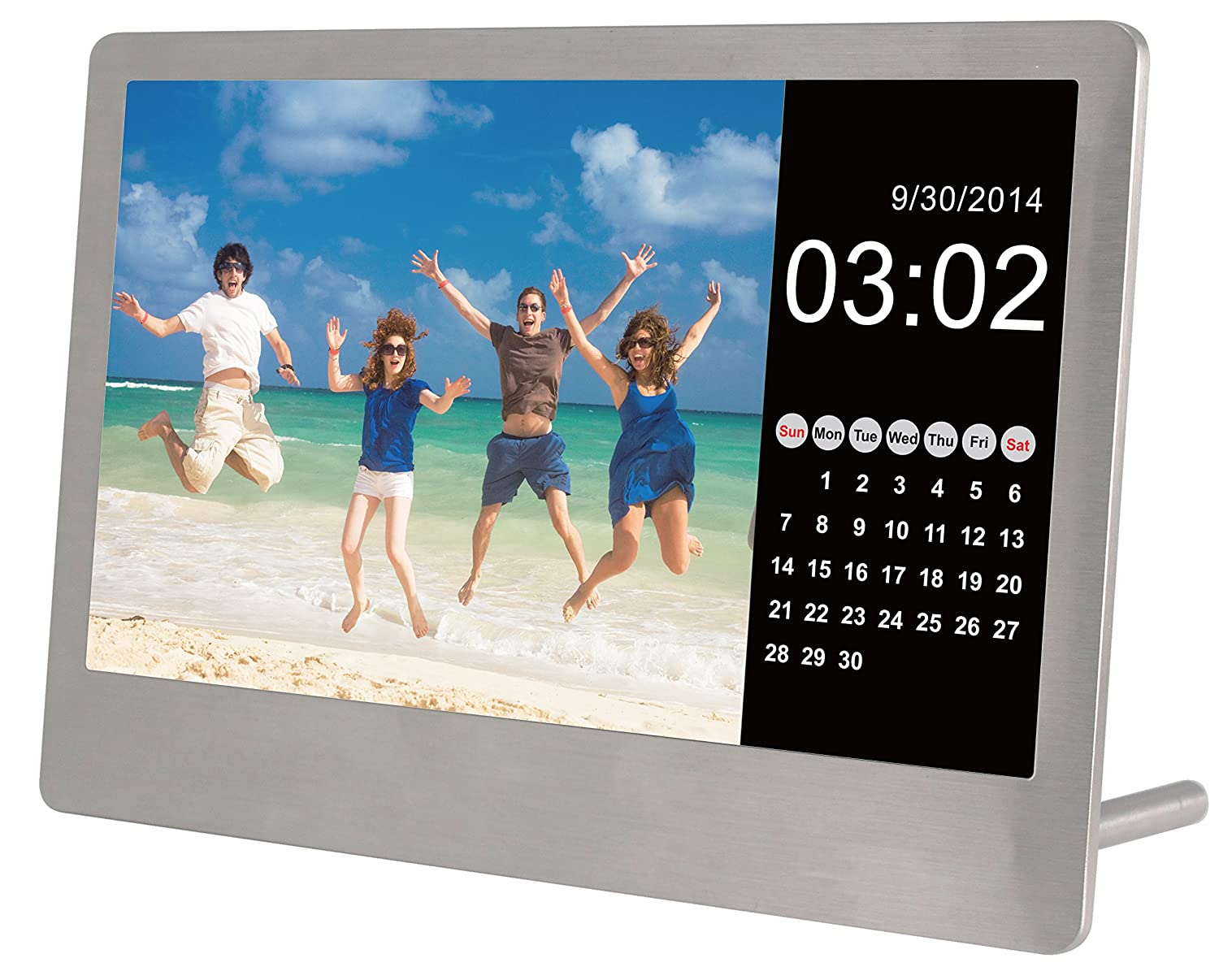 sylvania sdpf7977 7 inch stainless steel digital photo frame stainless steel
